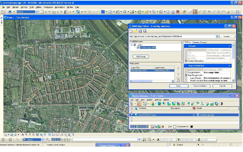 Web Map Service - zrzut ekranu